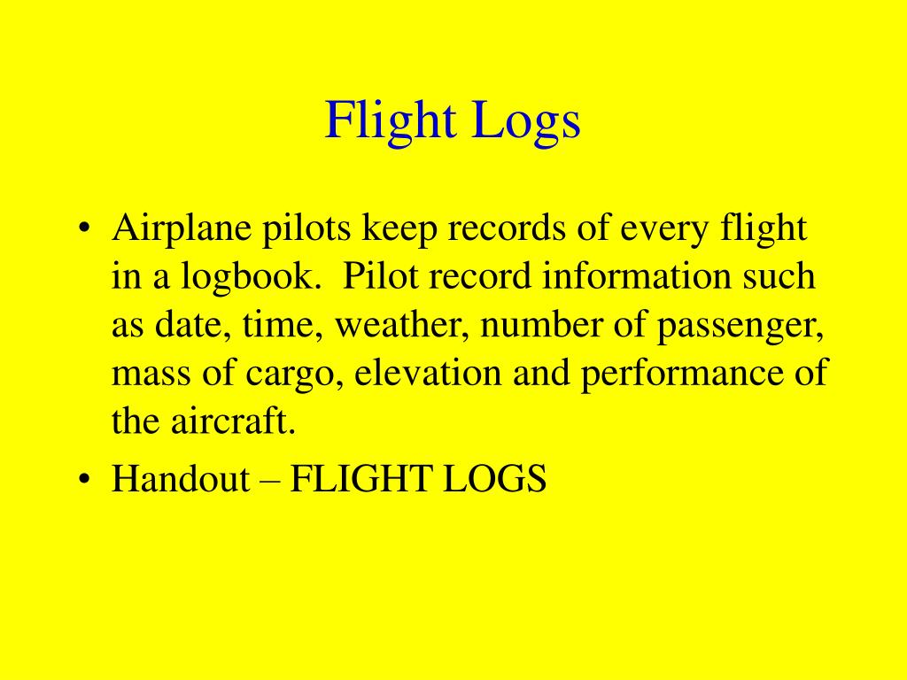 Flight Logs