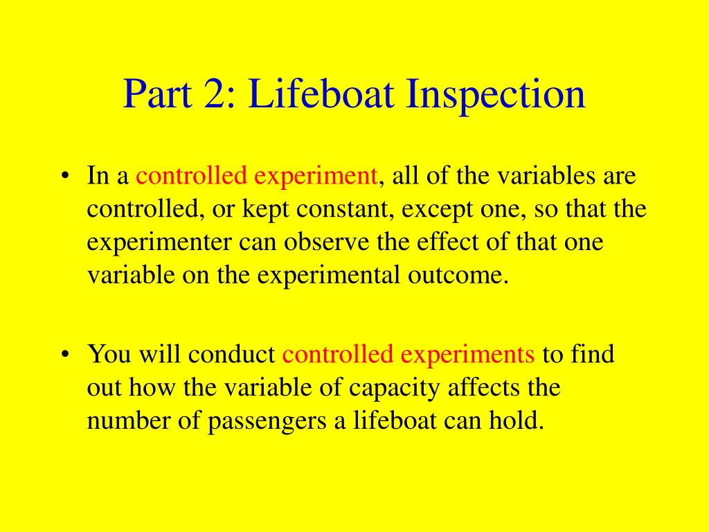 Part 2: Lifeboat Inspection