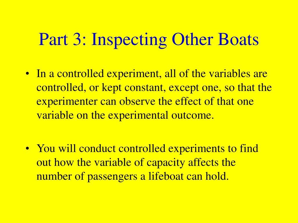 Part 3: Inspecting Other Boats