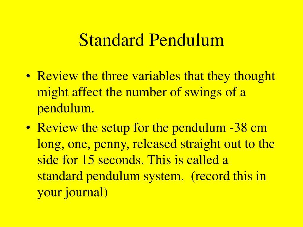 Standard Pendulum