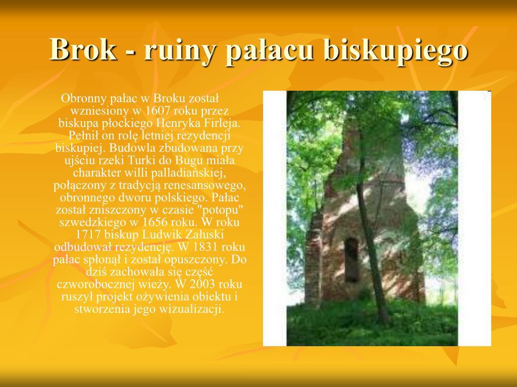 Brok - ruiny pałacu biskupiego