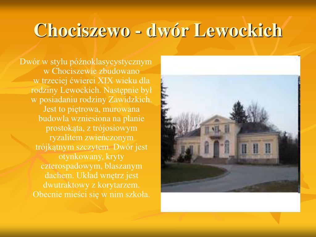 Chociszewo - dwór Lewockich