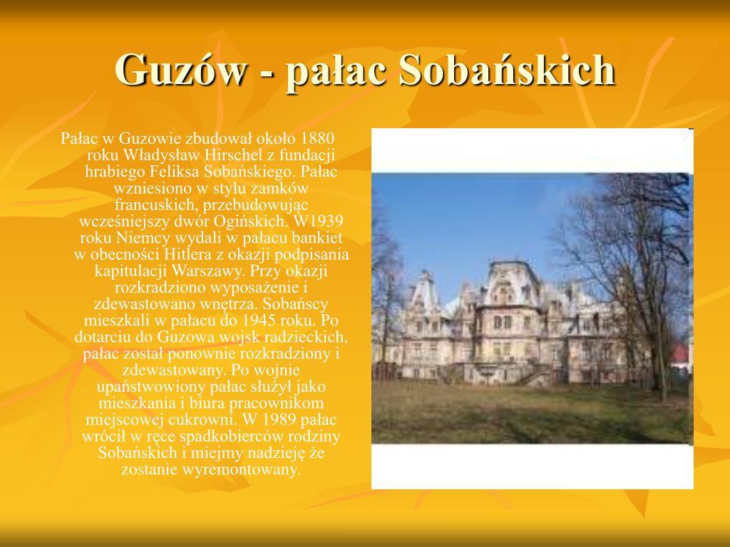Guzów - pałac Sobańskich
