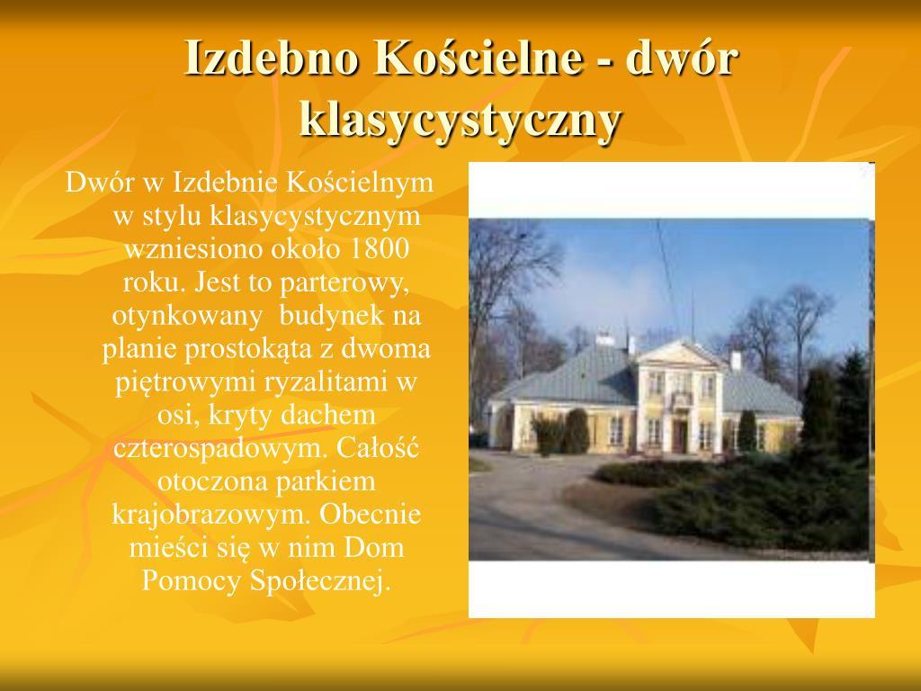 Izdebno Kościelne - dwór klasycystyczny