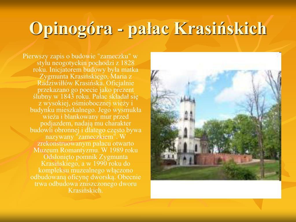 Opinogóra - pałac Krasińskich