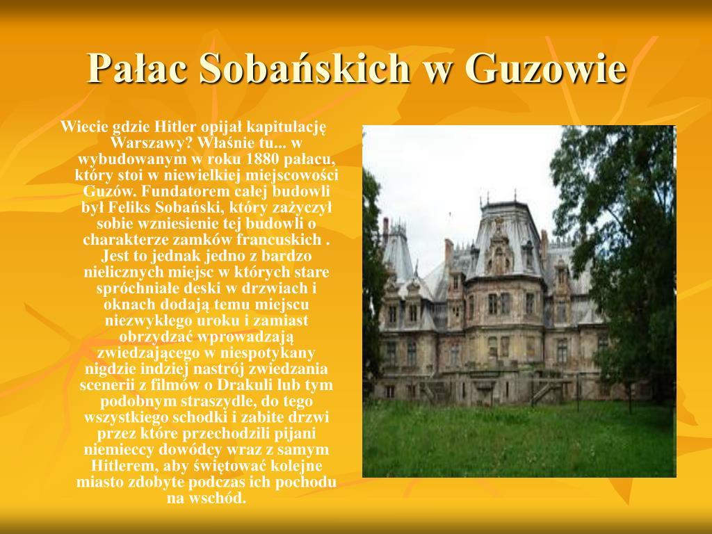 Pałac Sobańskich w Guzowie