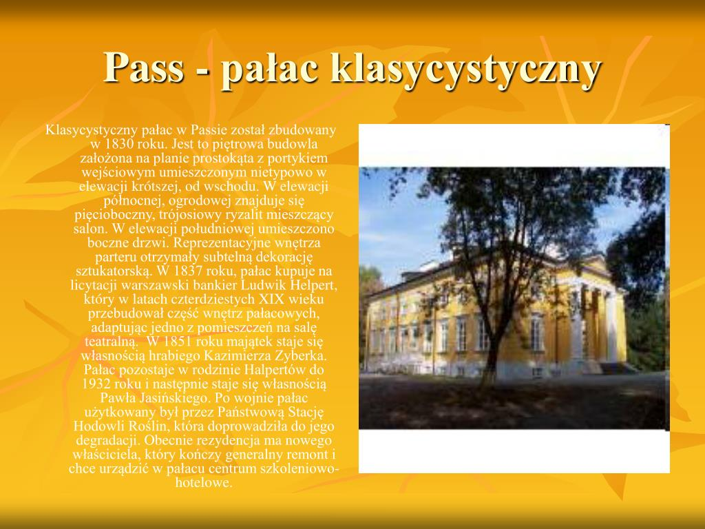 Pass - pałac klasycystyczny