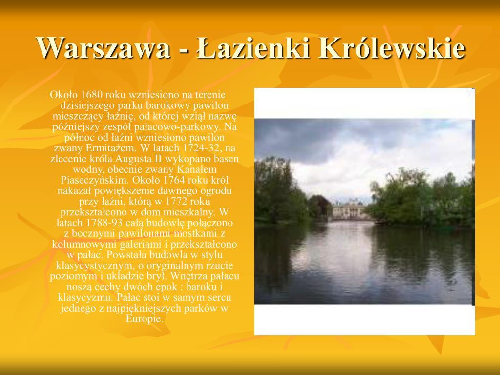 Warszawa - Łazienki Królewskie
