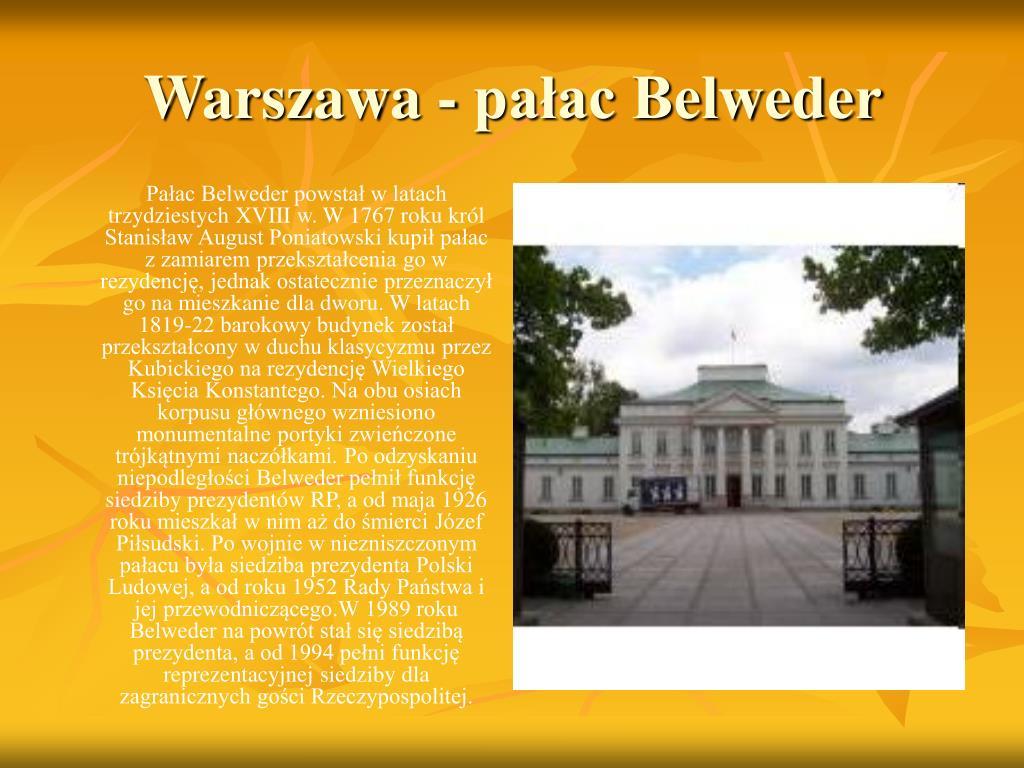 Warszawa - pałac Belweder