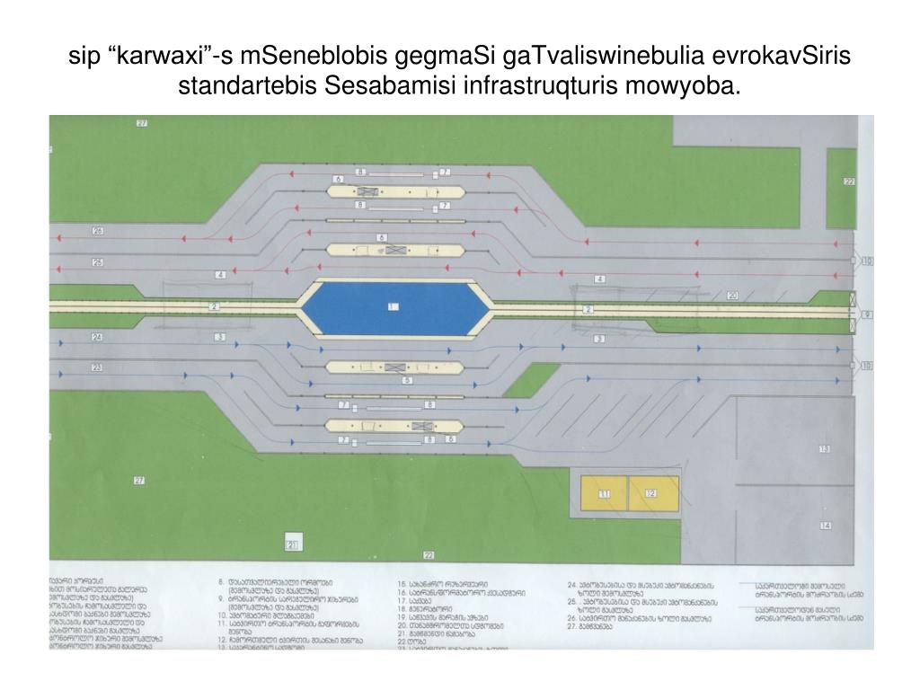 "sip ""karwaxi""-s mSeneblobis gegmaSi gaTvaliswinebulia evrokavSiris standartebis Sesabamisi infrastruqturis mowyoba."