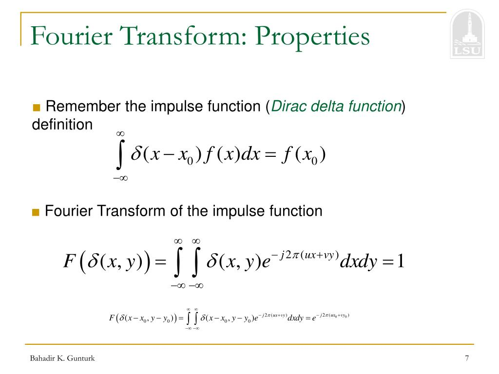 Fourier Transform: Properties