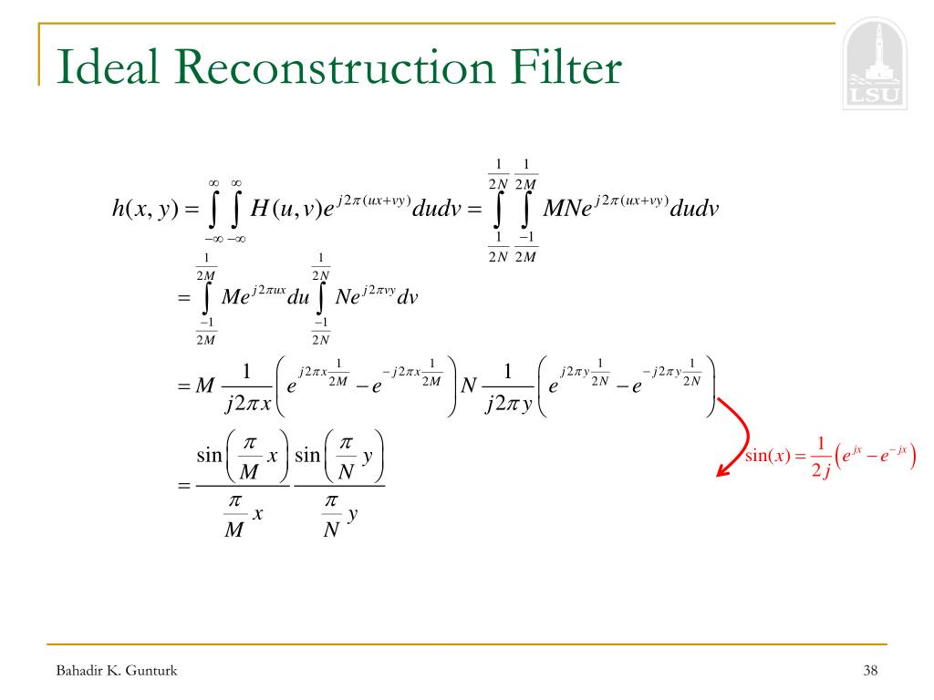 Ideal Reconstruction Filter