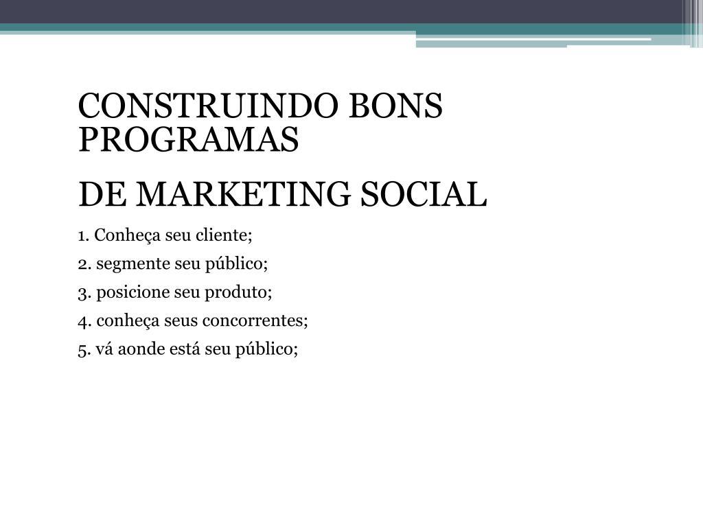 CONSTRUINDO BONS PROGRAMAS