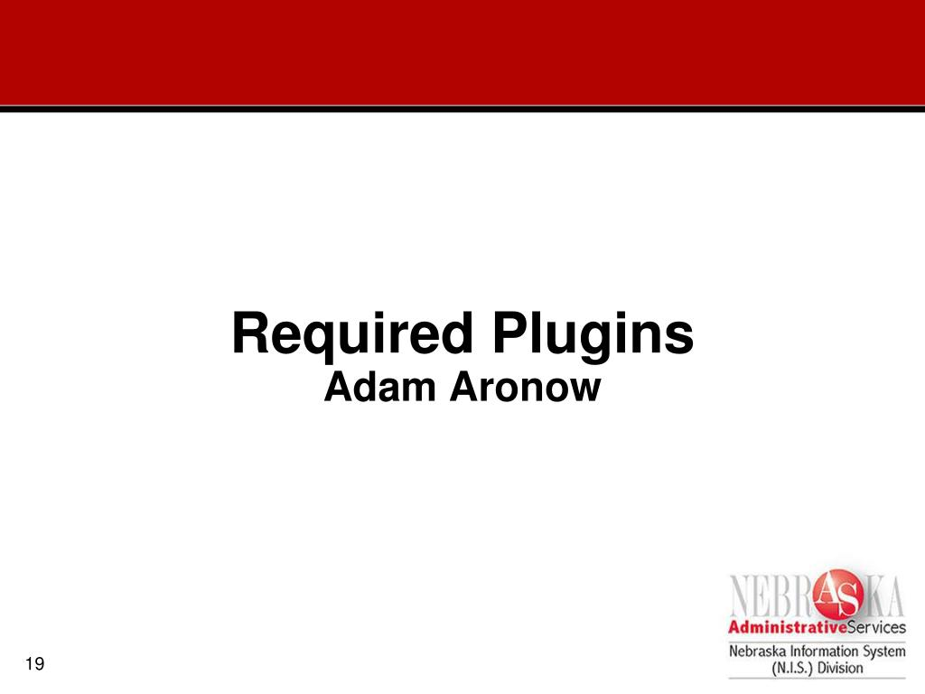 Required Plugins
