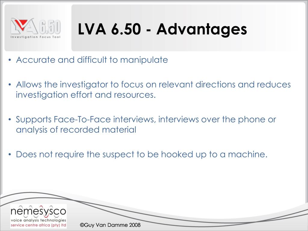 LVA 6.50 - Advantages
