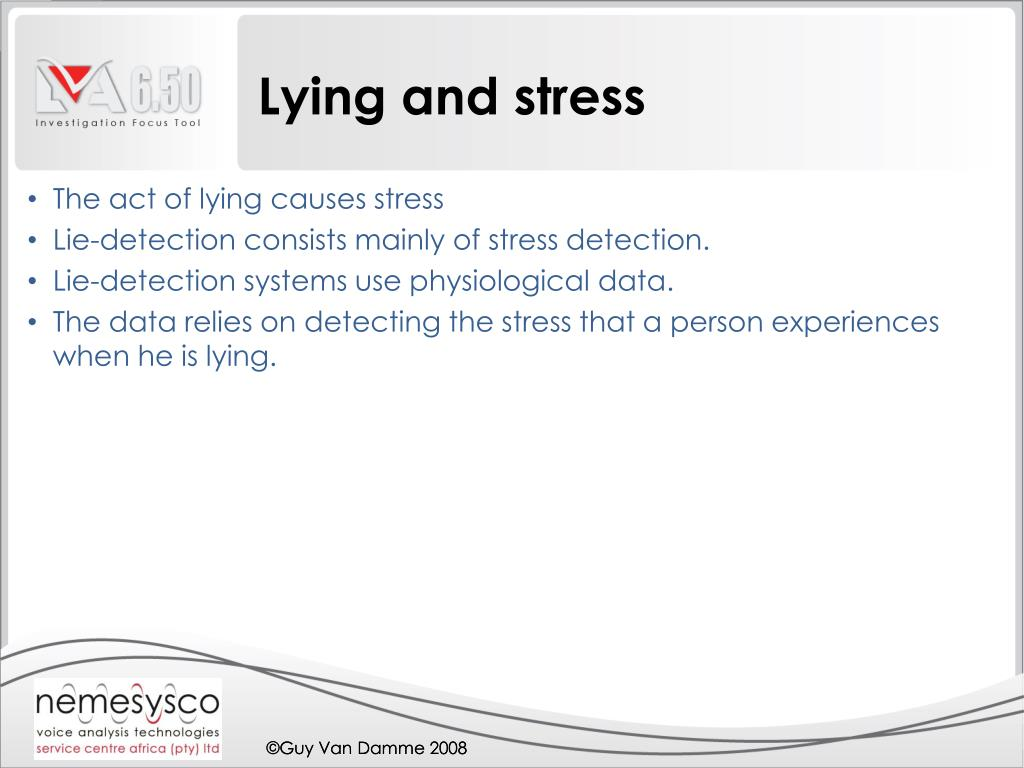 Lying and stress