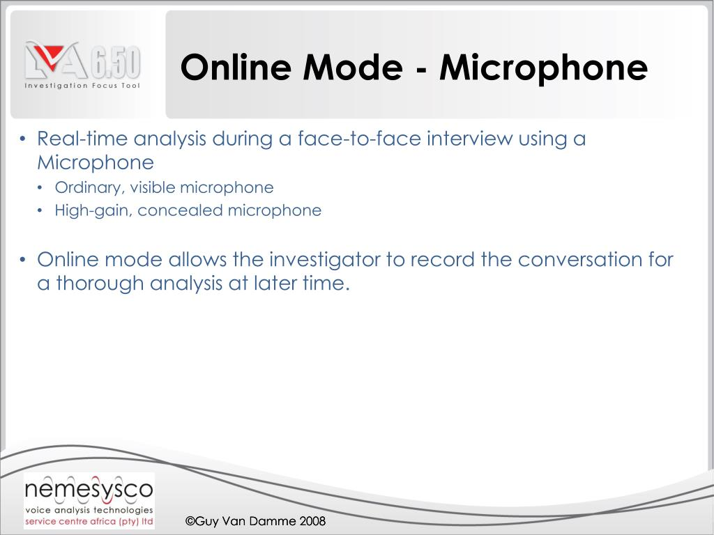 Online Mode - Microphone