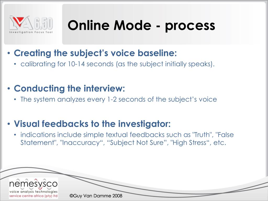 Online Mode - process
