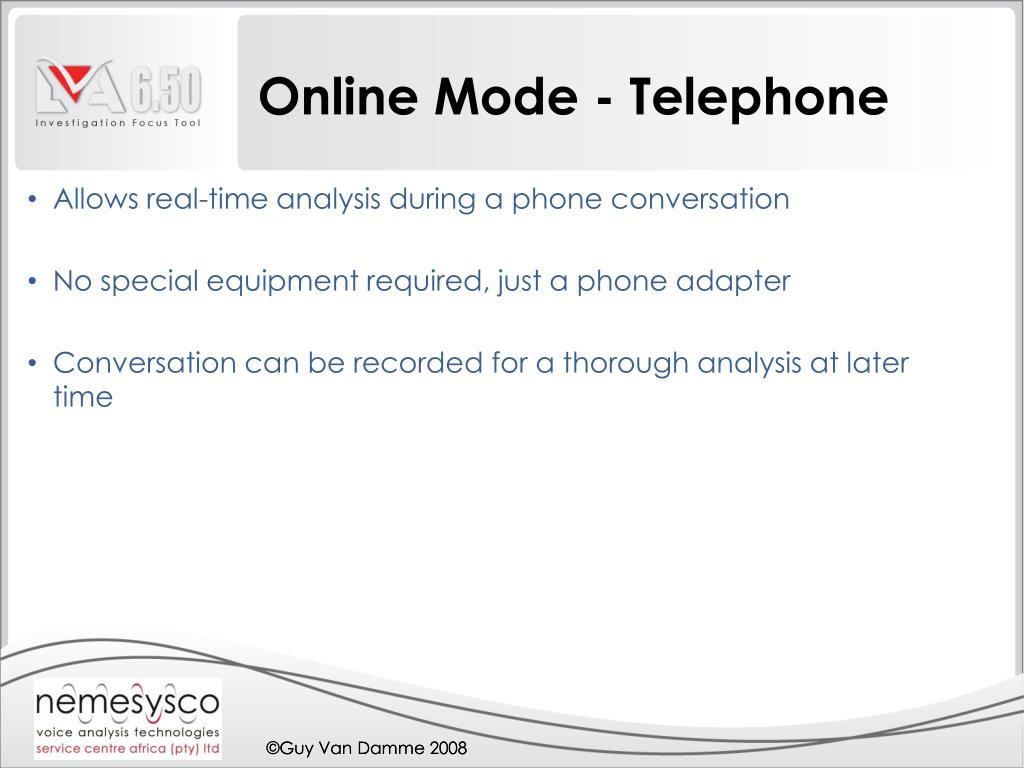 Online Mode - Telephone