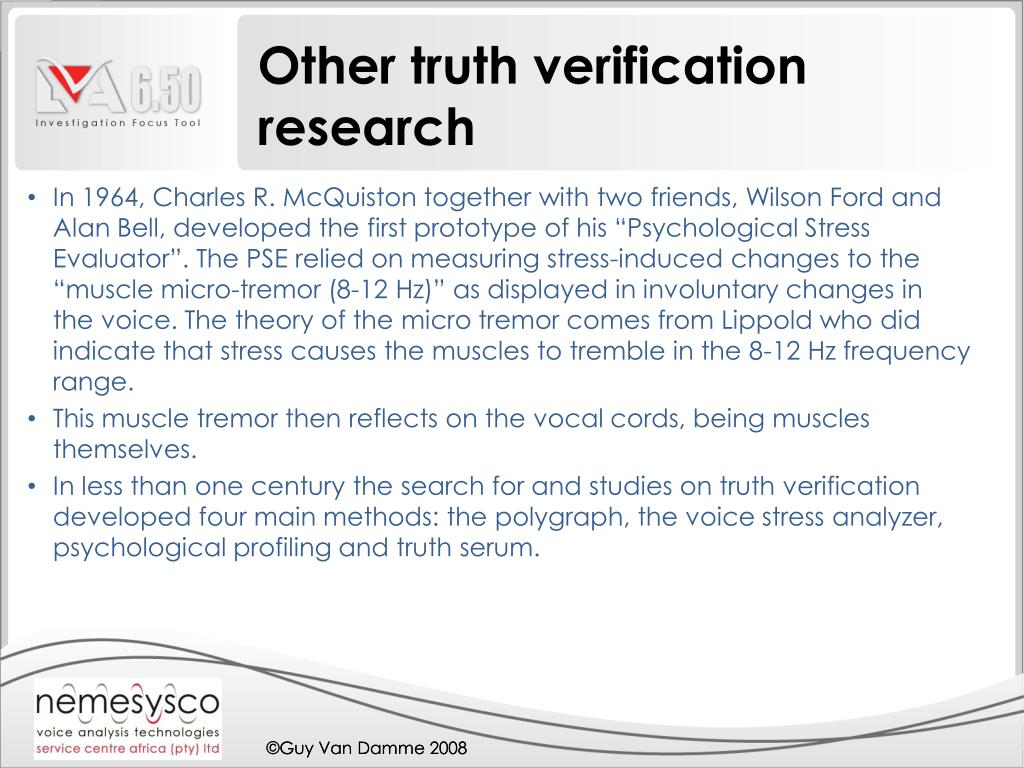 Other truth verification research