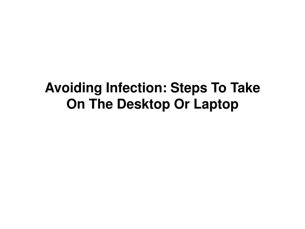 Avoiding Infection: Steps To Take
