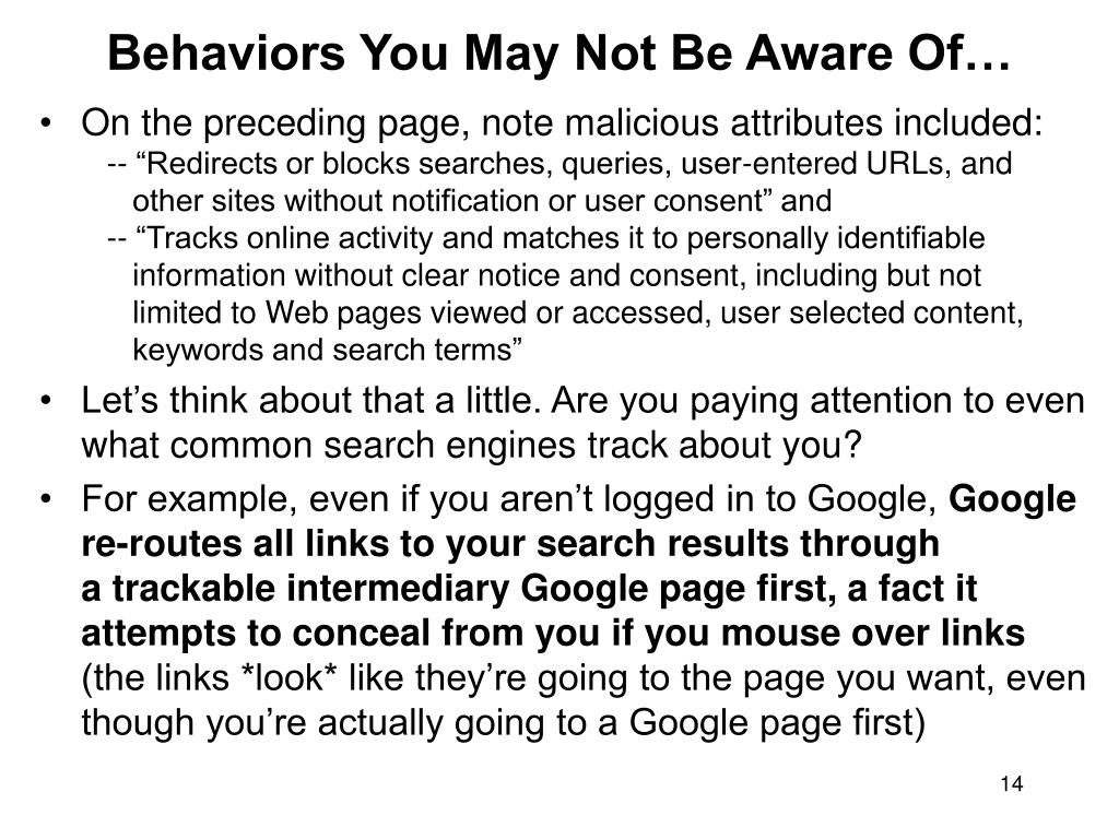 Behaviors You May Not Be Aware Of…