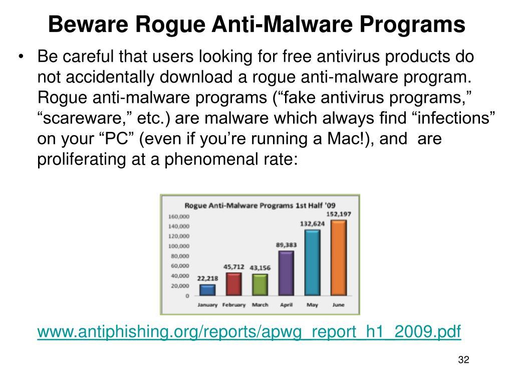 Beware Rogue Anti-Malware Programs