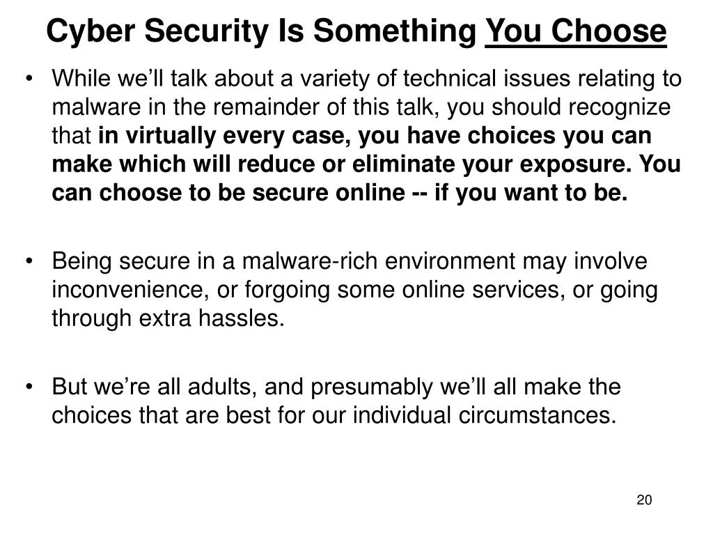 Cyber Security Is Something