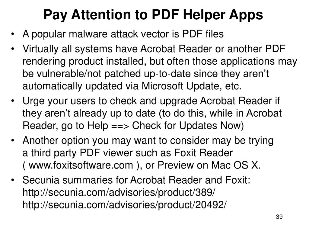 Pay Attention to PDF Helper Apps