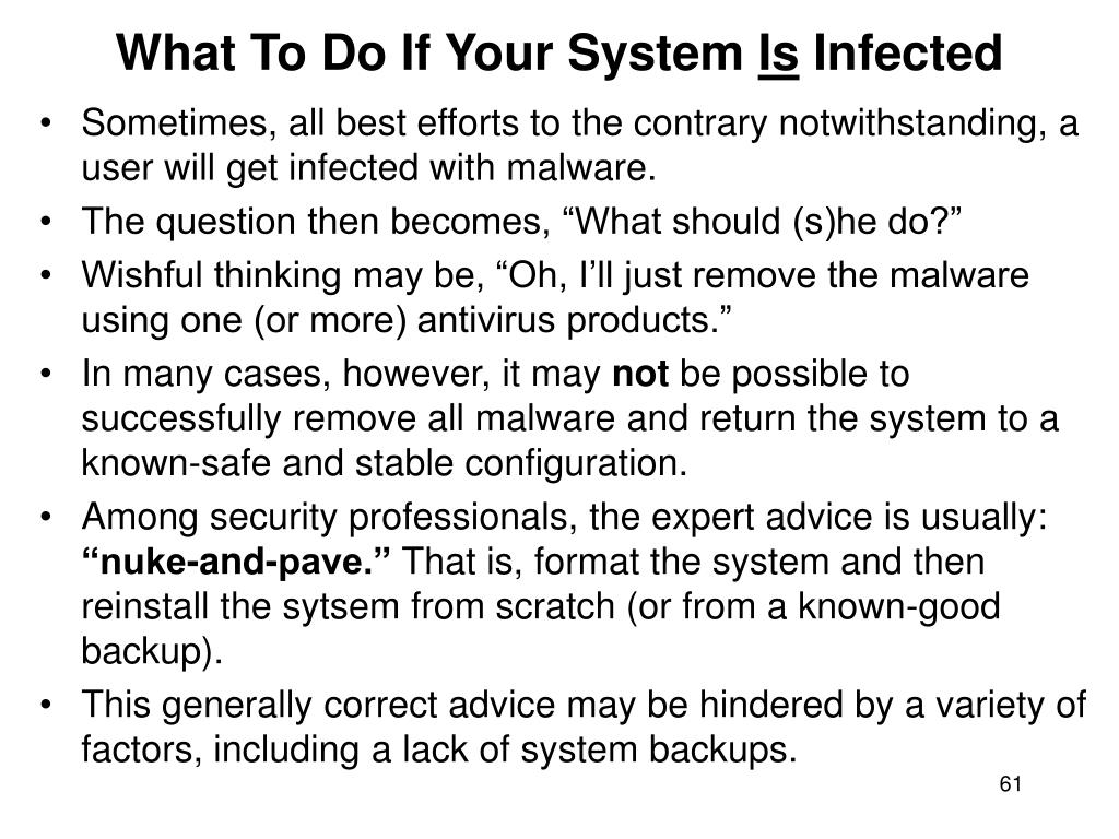What To Do If Your System