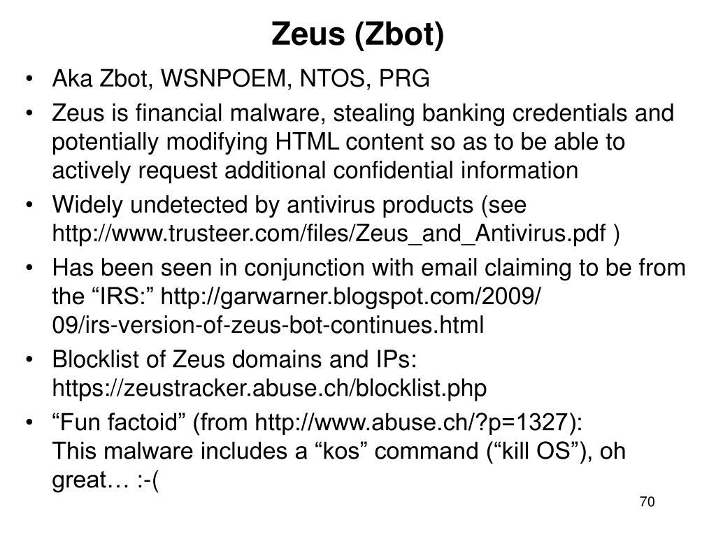 Zeus (Zbot)