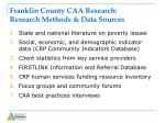 franklin county caa research research methods data sources