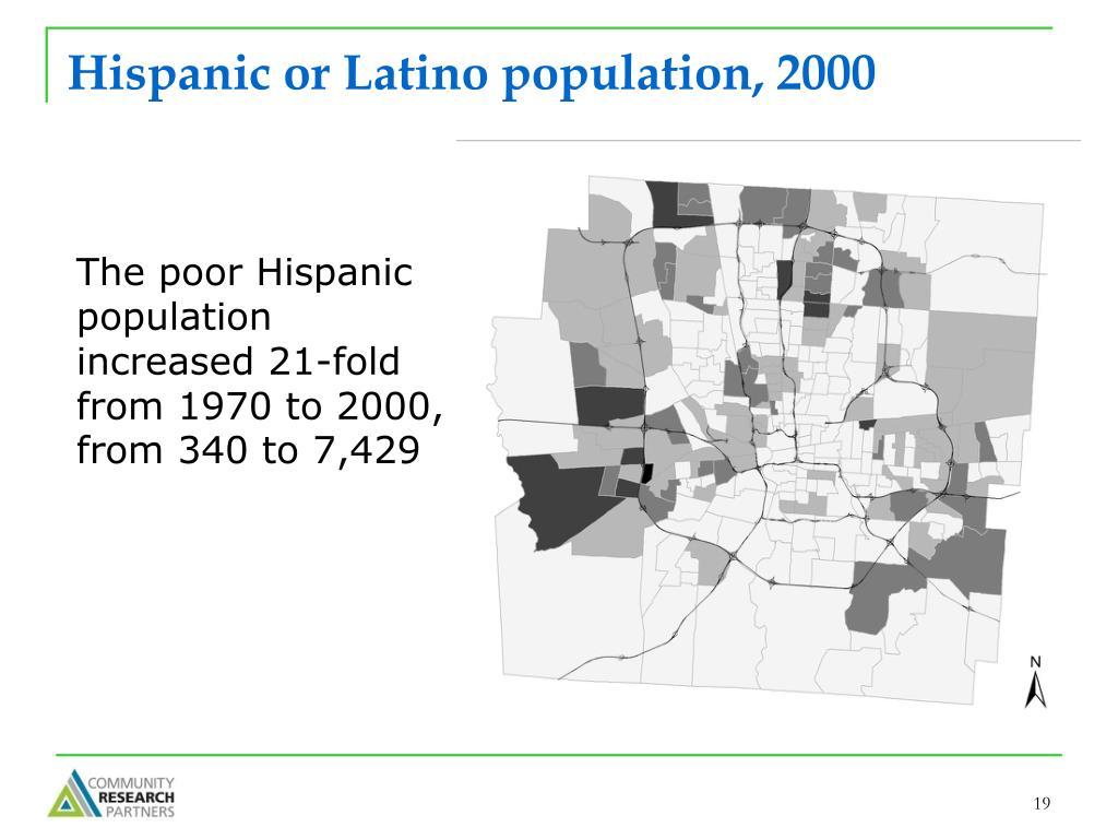 Hispanic or Latino population, 2000