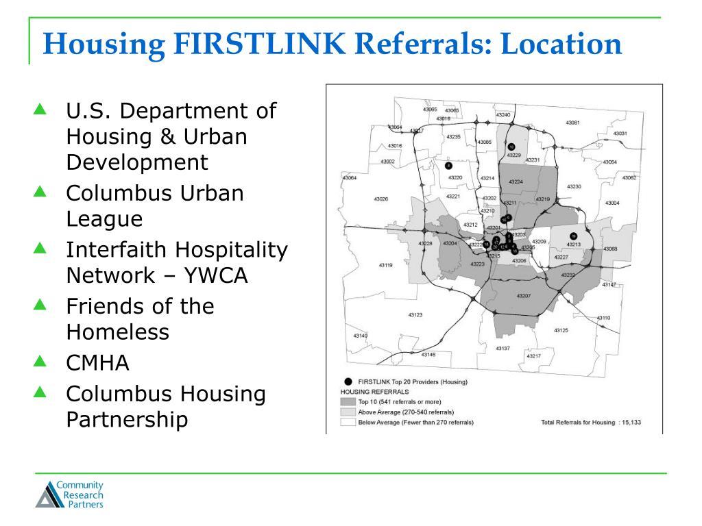 Housing FIRSTLINK Referrals: Location