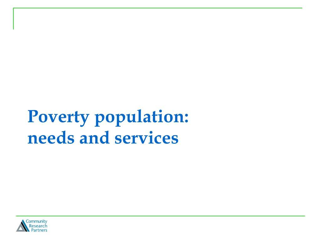 Poverty population: