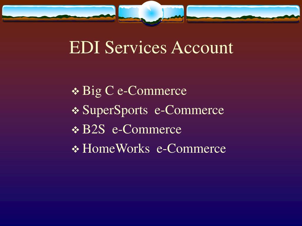 EDI Services Account