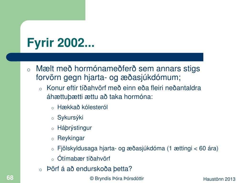 Fyrir 2002...