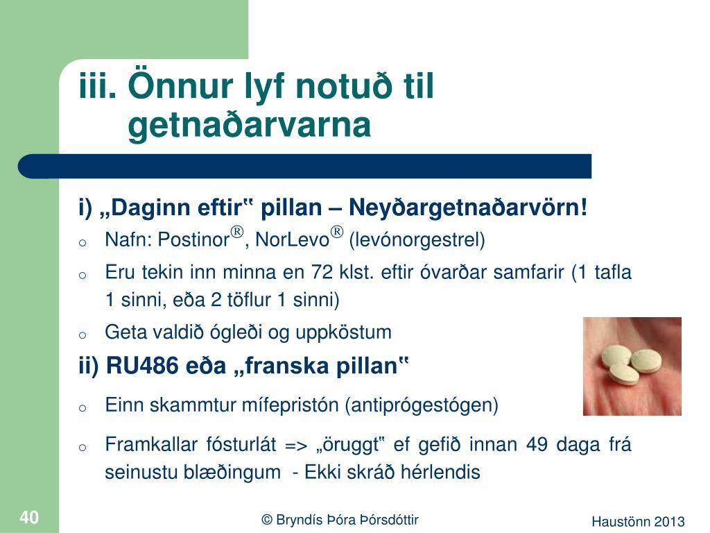 iii. Önnur lyf notuð til