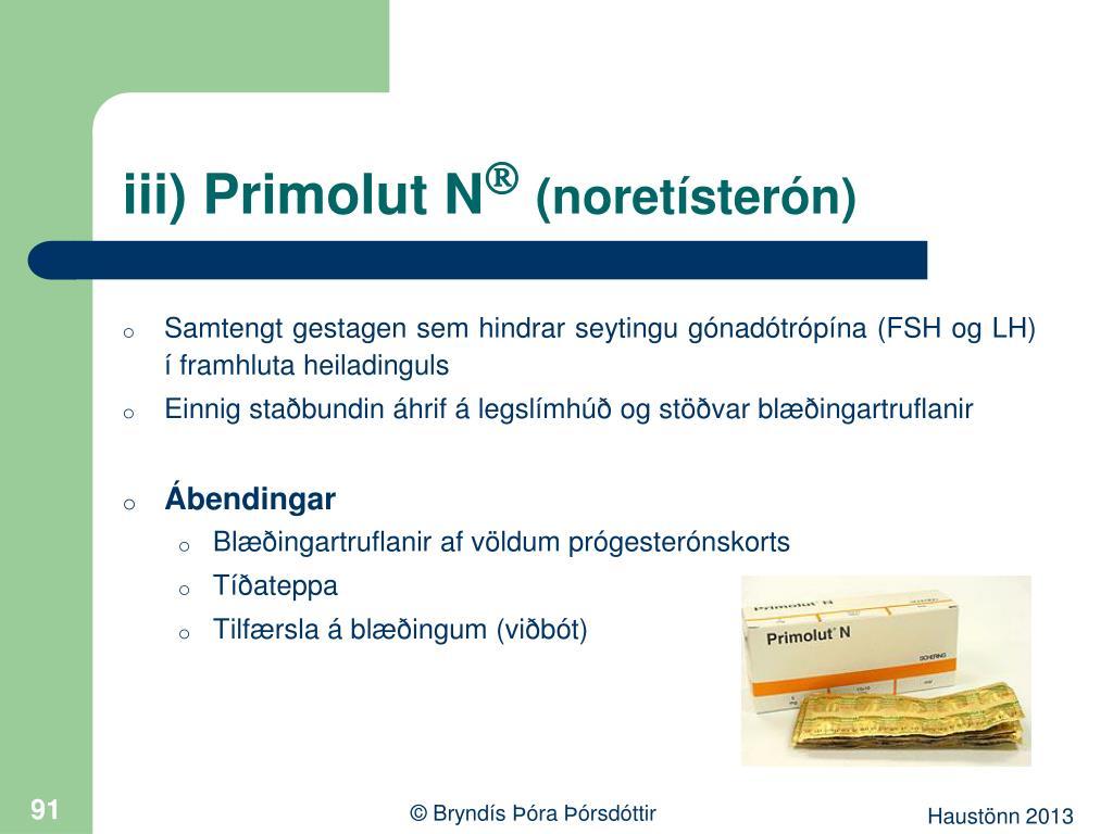 iii) Primolut N