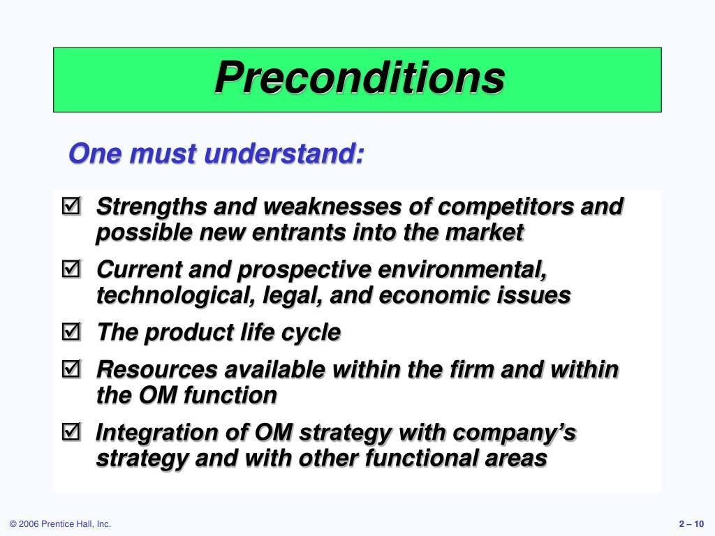 Preconditions