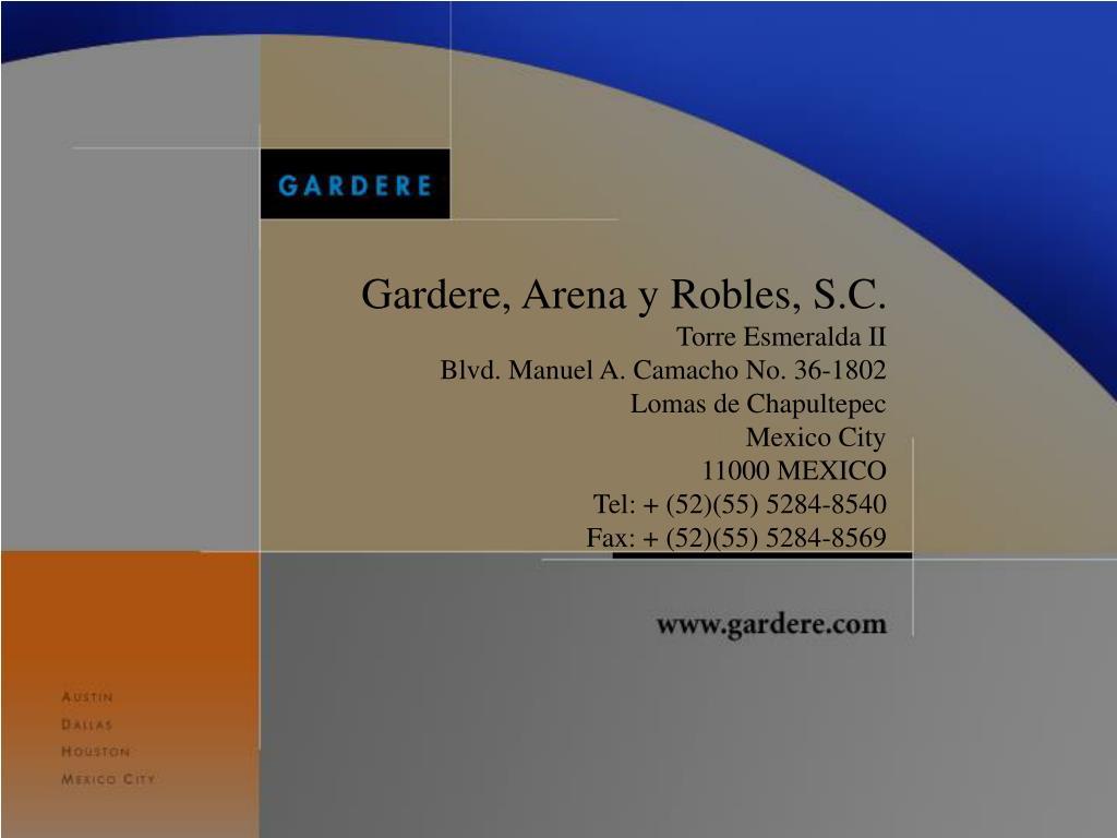 Gardere, Arena y Robles, S.C.