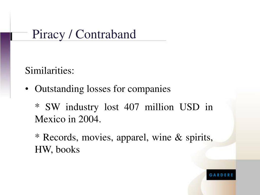 Piracy / Contraband