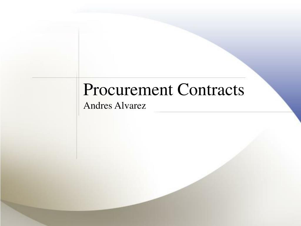 Procurement Contracts