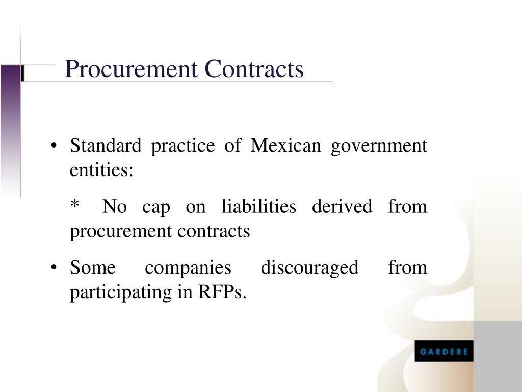 Procurement Contracts