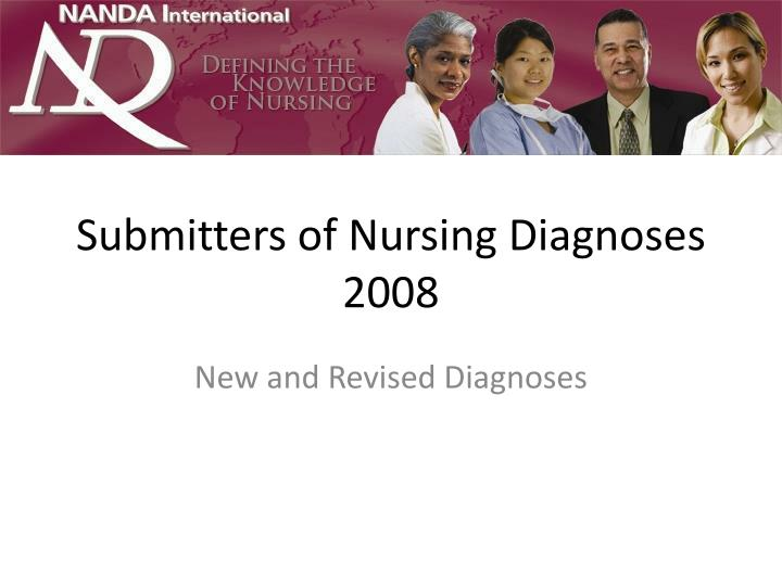 Submitters of nursing diagnoses 2008 l.jpg