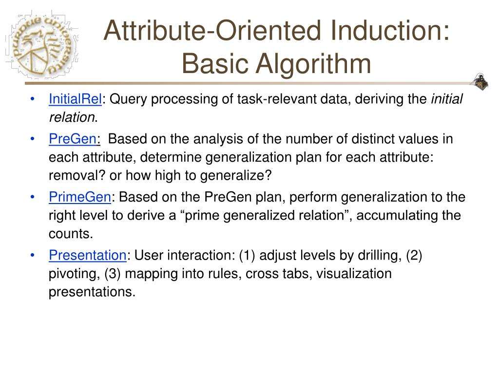 Attribute-Oriented Induction: Basic Algorithm