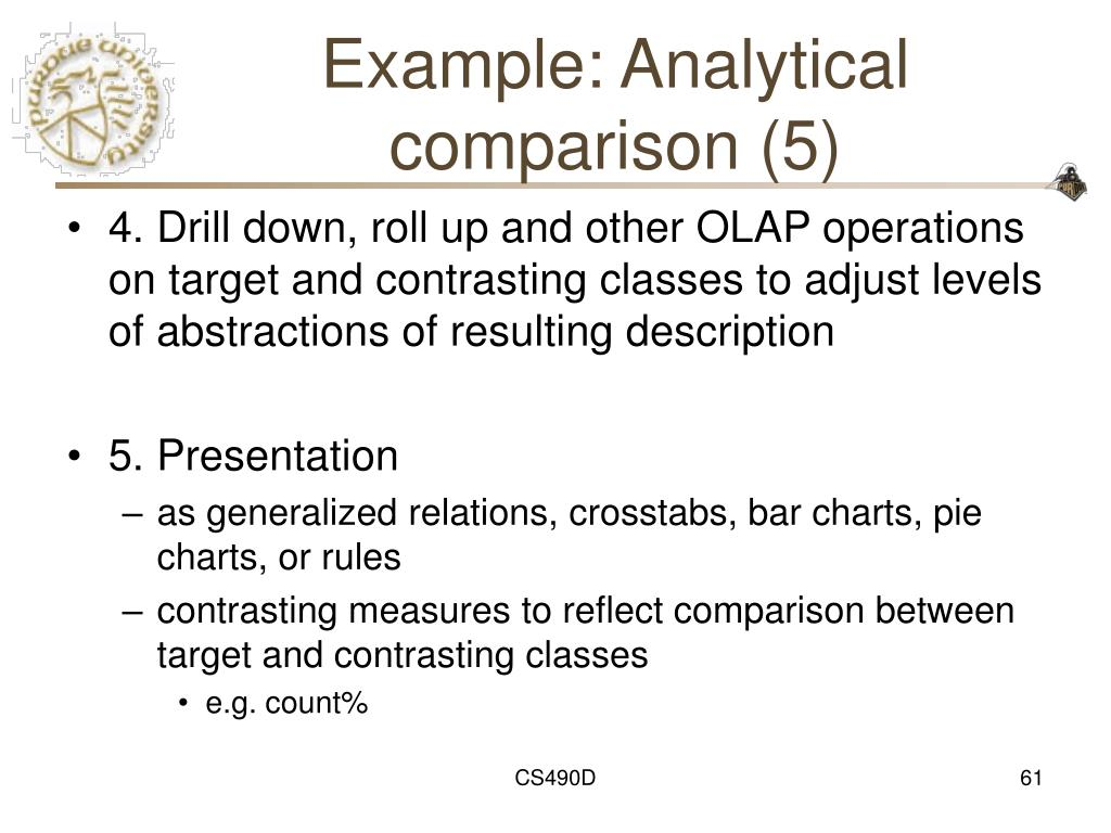 Example: Analytical comparison (5)