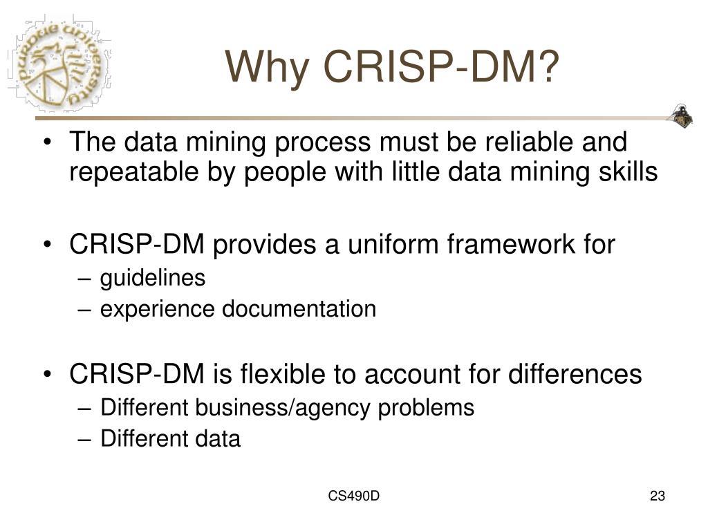 Why CRISP-DM?
