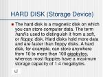 hard disk storage device