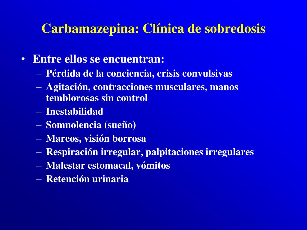 Carbamazepina: Clínica de